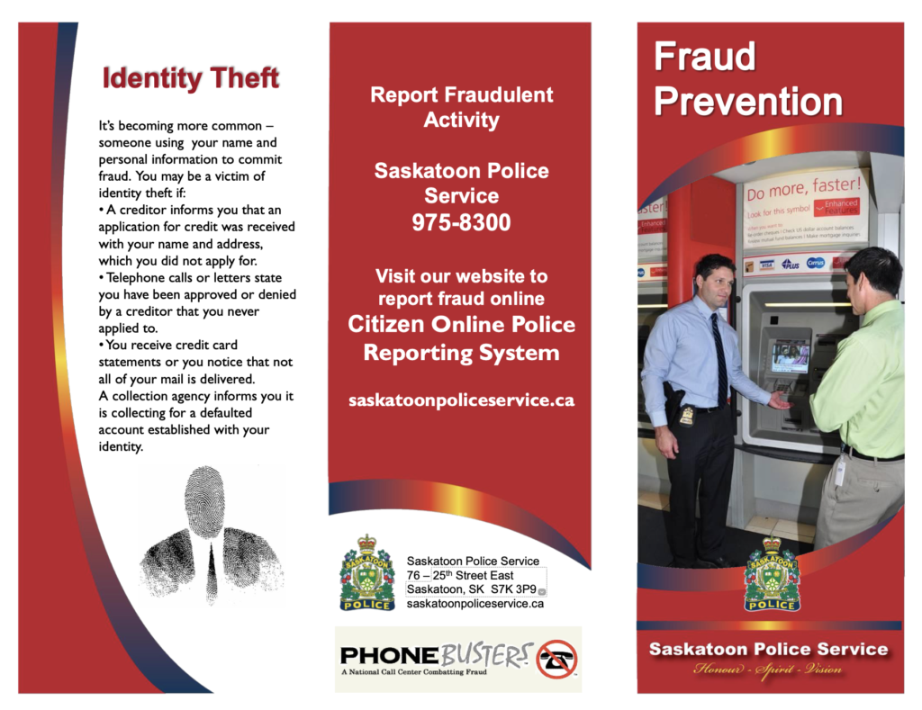Saskatoon Police Identity theft tips